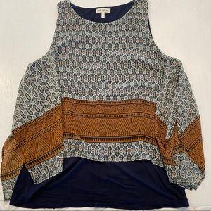 Faith and Joy Flutter Tank Top Shirt Boho Western